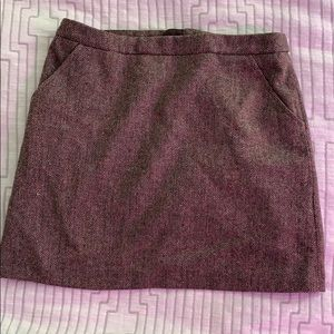 H & M Wool Mini Skirt
